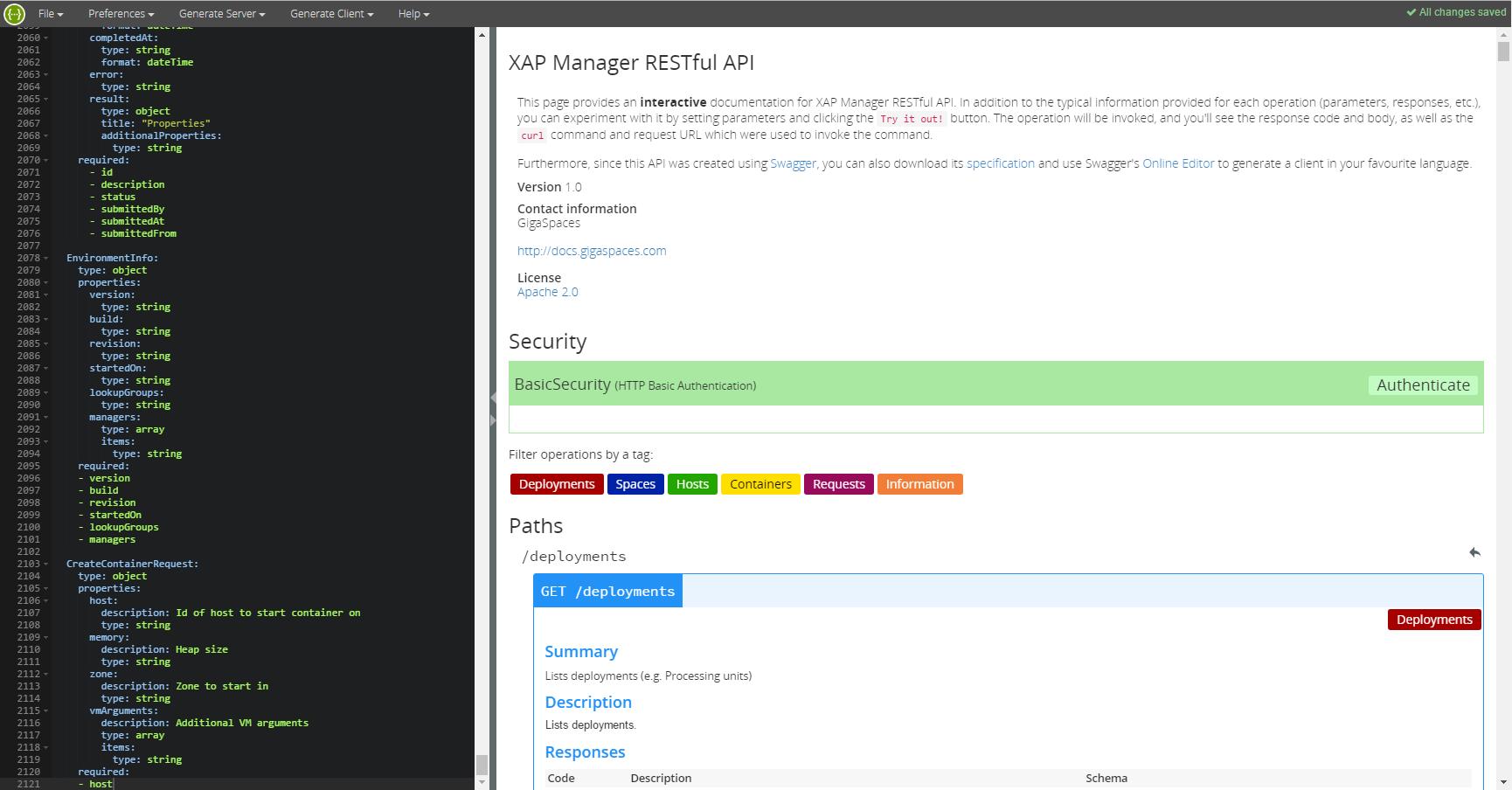REST Manager API